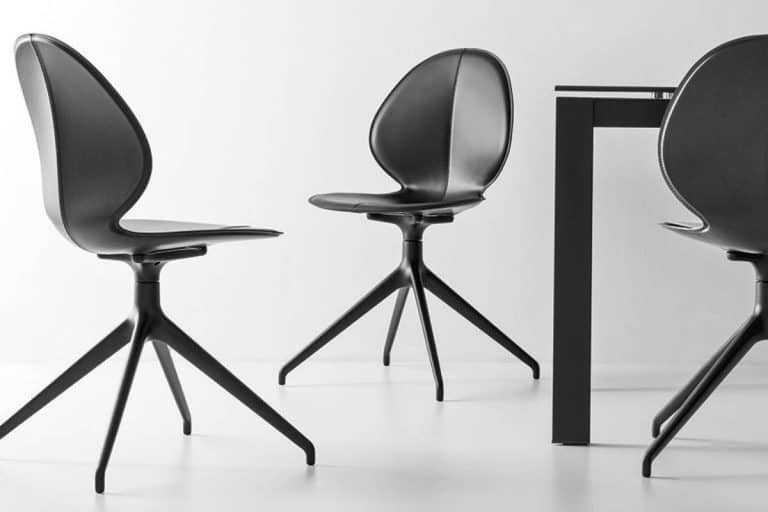 Balis: sedia resistente, leggera ed ergonomica (con o senza struttura girevole) - Calligaris