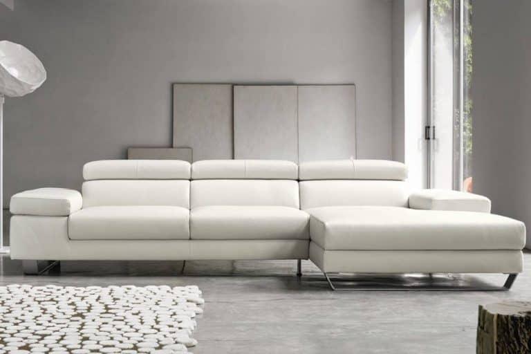 Alison: divano moderno in pelle con bracciolo inclinabile - Doimo Salotti
