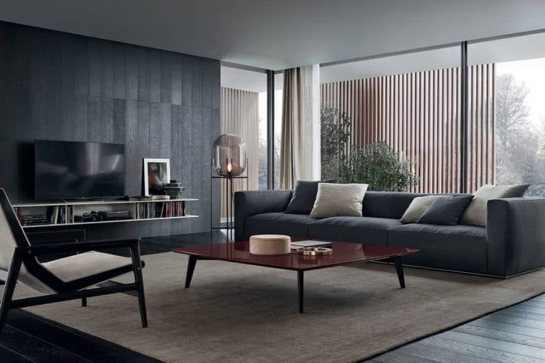 Shangai: divano moderno con base in alluminio - Poliform