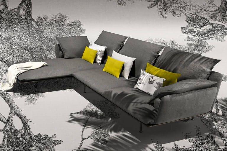Cruise Alu: elegante divano con chaise longue - Talenti