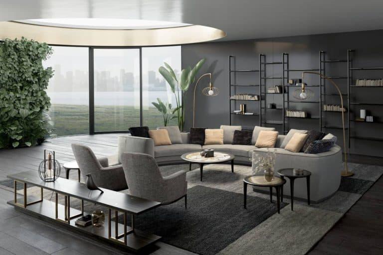 Franklin: divano fisso o componibile in linea e ad angolo - Borzalino