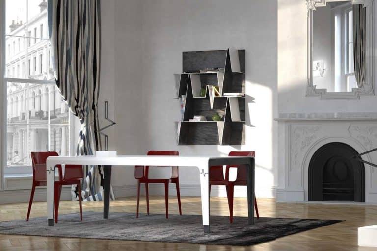 Heart: tavolo moderno di forma rettangolare