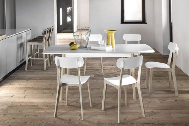 Cream Table: tavolo in legno rettangolare e allungabile - Calligaris