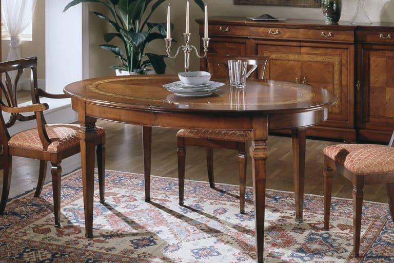 Ca' Dolfin: tavolo classico ovale allungabile - Moletta