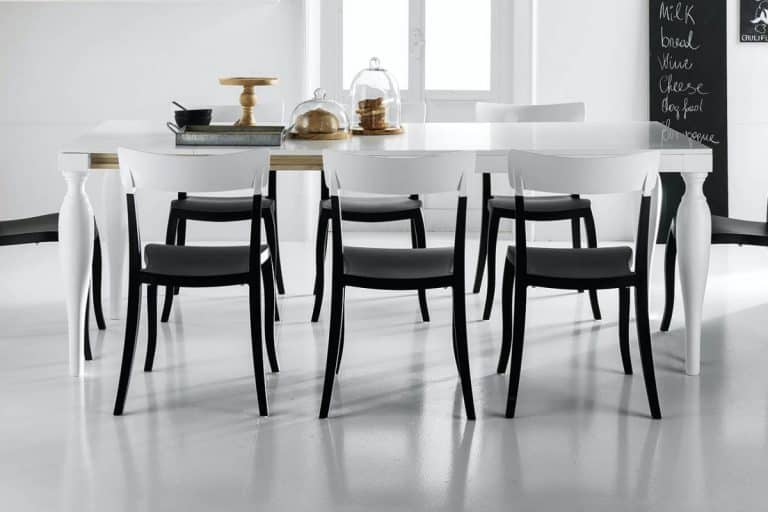 Ancona: tavolo allungabile da cucina moderna con fusto - Stosa