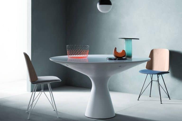 Blanco: tavolo tondo dal design moderno - Zanotta