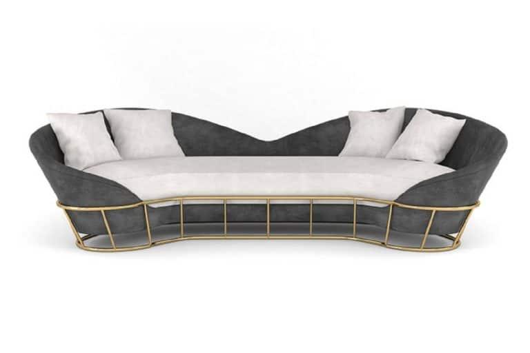 Beam Sofa: sofisticato divano moderno con base in ottone - Bitangra