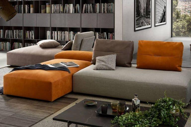 Lario: divano componibile in svariate forme e colori - Dondi Salotti