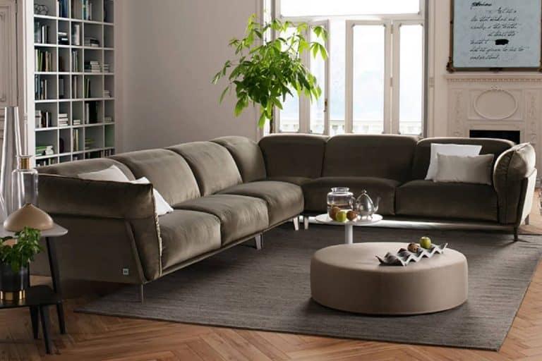Pensiero: divano contemporaneo che combina le linee classiche a quelle moderne - Febal Casa
