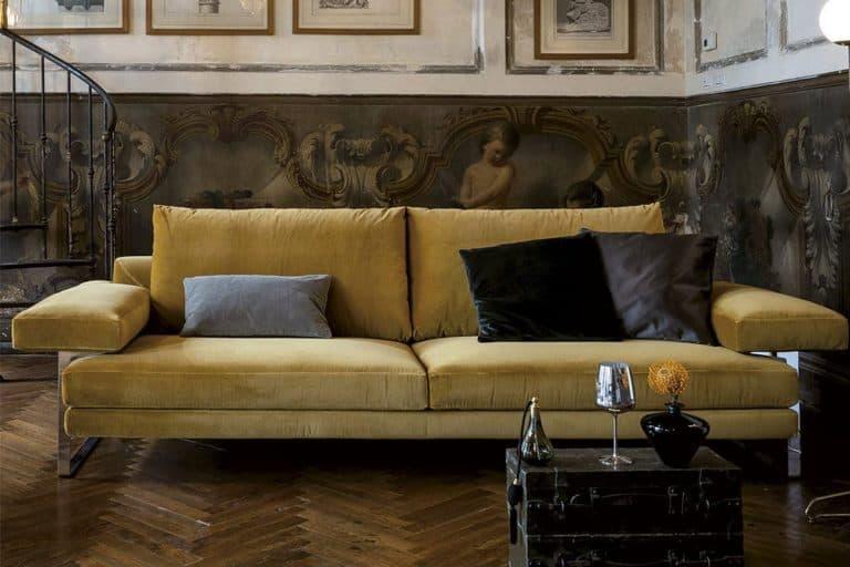 Ego: divano con imbottitura in poliuretano indeformabile e rivestimento con Tomana - Arketipo