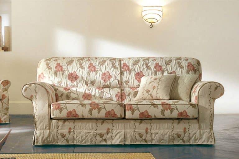 Telemaco: confortevole divano classico con schienale alto - Pandolfi
