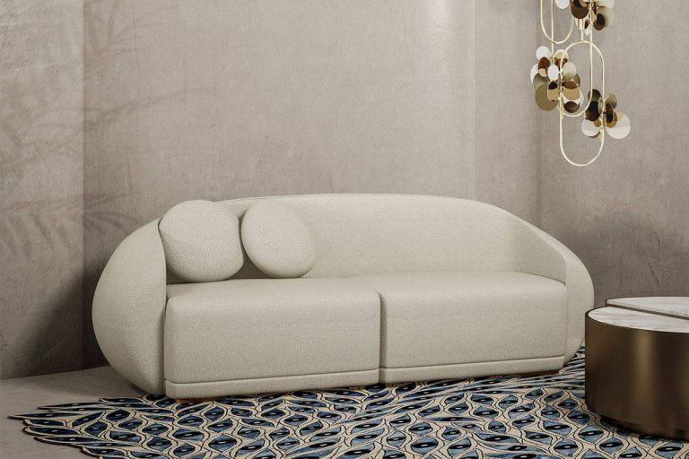 Peggy Sofa: divano curvo in tessuto - Ottiu