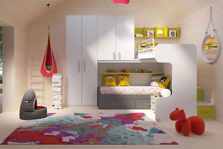 Composizione 18: cameretta bianca per bambini - ImaMobili
