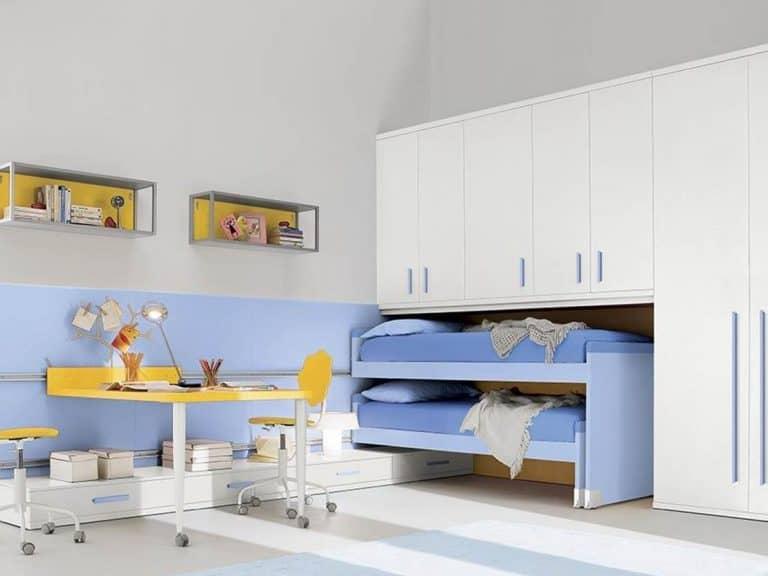 Composizione 222: Camera bambini azzurra - Spagnol